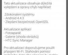 HTC One (M7) získavá nejnovší Android 4.4.3