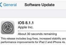 Update iOS 8.1.1 – zrýchľuje iPhone 4s