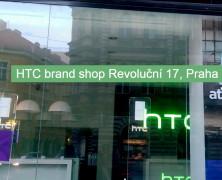 Značková predajňa HTC v Prahe